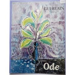 Ancienne publicité originale couleur Ode de Guerlain  Illustration de Palayer 1955