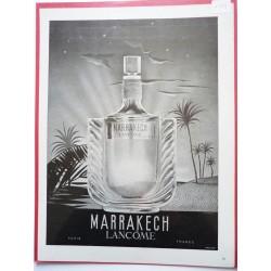 Ancienne publicité originale noir & blanc Marrakech de Lancôme  Illustration de E. M. Pérot 1948