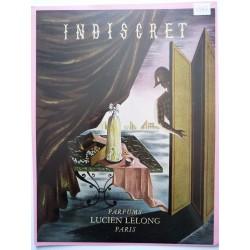 Ancienne publicité originale couleur Indiscret de Lucien Lelong  Illustration de Jean Picart Le Doux 1947