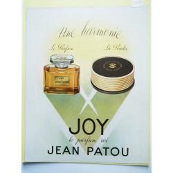 Ancienne publicité originale couleur Joy de Jean Patou 1951