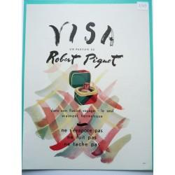 Ancienne publicité originale couleur Visa de Robert Piguet 1948