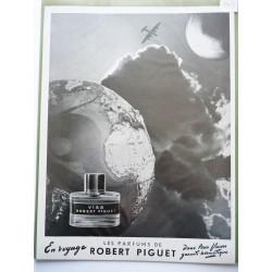 Ancienne publicité originale noir & blanc Visa de Robert Piguet 1953