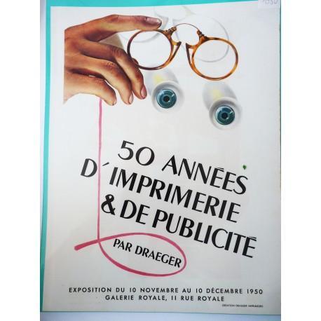 Ancienne publicité originale couleur Draeger 1950