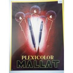 Ancienne publicité originale couleur pour les stylos Mallat 1949