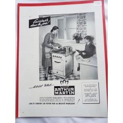 Ancienne publicité originale noir & blanc Arthur Martin 1948