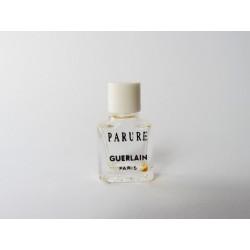 Miniature de parfum Parure de Guerlain bouchon blanc