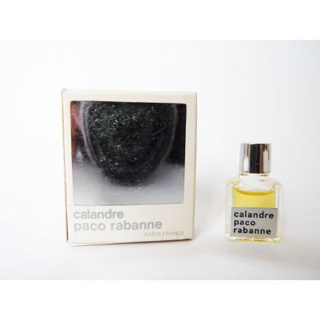 Miniature de parfum Calandre de Paco Rabanne