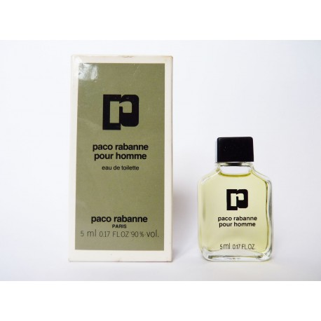 Miniature de parfum Paco Rabanne pour Homme