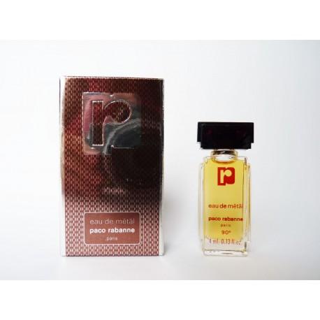 Miniature de parfum Eau de Métal de Paco Rabanne