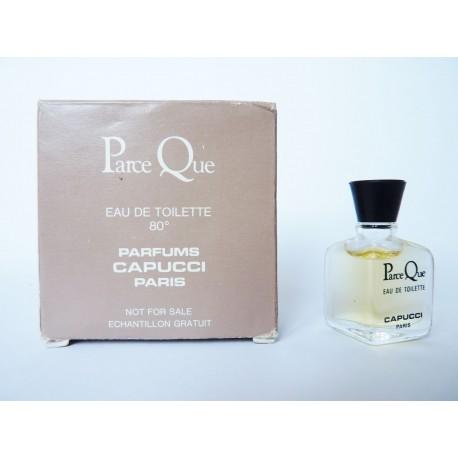 Miniature de parfum Parce Que de Capucci