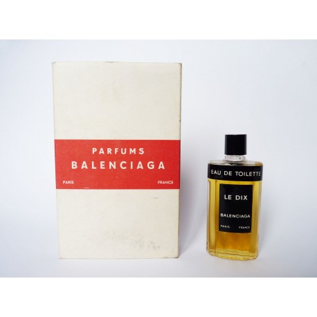 Ancienne miniature de parfum Le Dix de Balenciaga