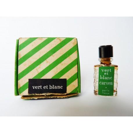 Miniature ancienne Vert et Blanc de Carven