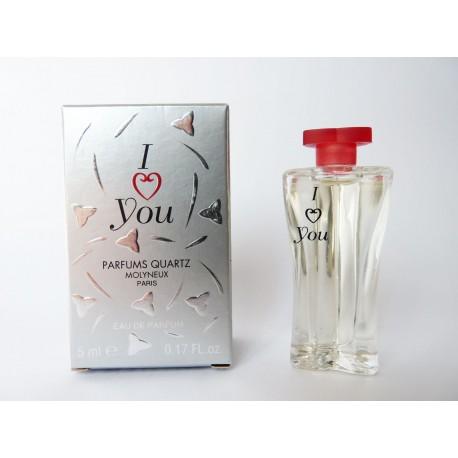 Miniature de parfum I Love you de Molyneux