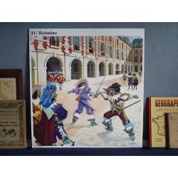 Ancienne affiche scolaire : Richelieu / Mazarin