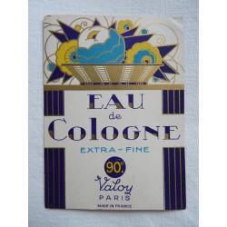 Etiquette Eau de Cologne Extra Fine de Valoy