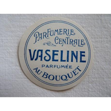 Etiquette ronde Vaseline parfumée au bouquet