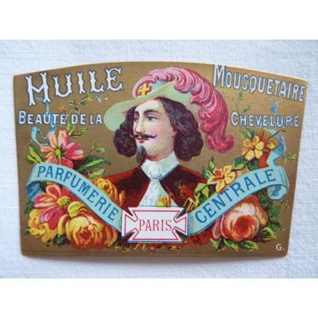 Ancienne étiquette Huile Mousquetaire