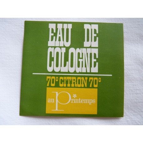 Etiquette Eau de Cologne Citron, au Printemps