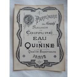 Etiquette Eau de Quinine, qualité supérieure