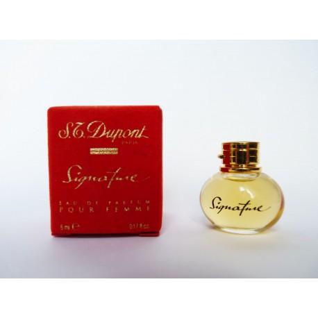 Miniature de parfum Signature de S.T. Dupont