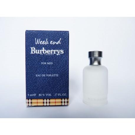 Miniature de parfum Week End for Men de Burberry