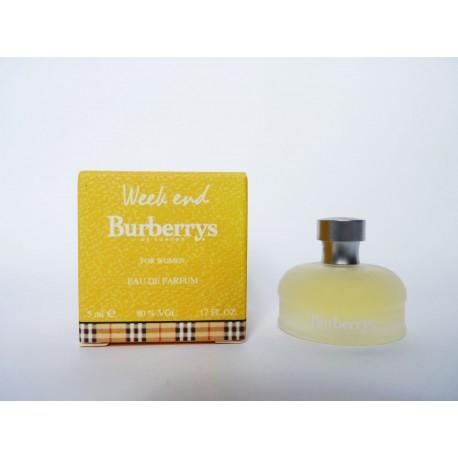 Miniature de parfum Week End de Burberry