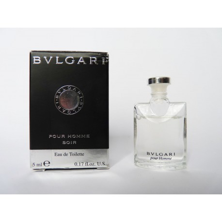 Miniature de parfum Pour Homme Soir de Bulgari