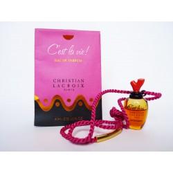 Miniature de parfum flacon bijou C'est la vie! de Christian Lacroix