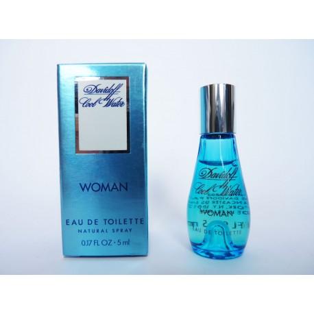 Miniature de parfum Cool Water Woman de Davidoff
