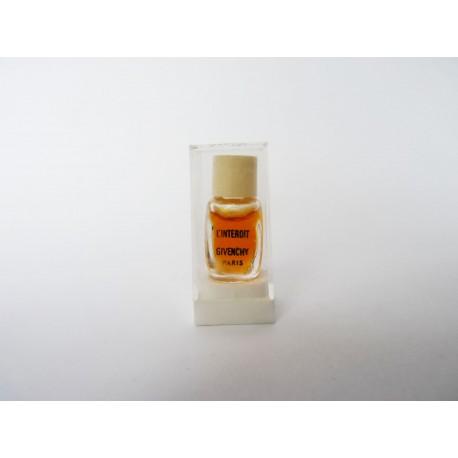 Ancienne miniature de parfum L'Interdit de Givenchy