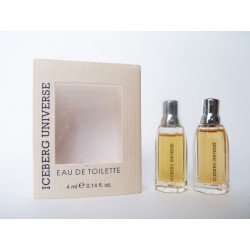2 Miniatures de parfum Iceberg Universe