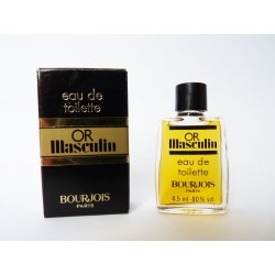 Ancienne miniature de parfum Or Masculin de Bourjois