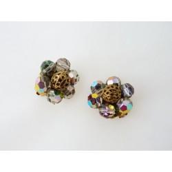 Boucles d'oreilles clips en forme de fleur