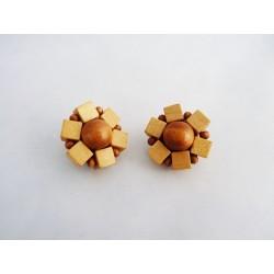 Boucles d'oreilles clips en bois