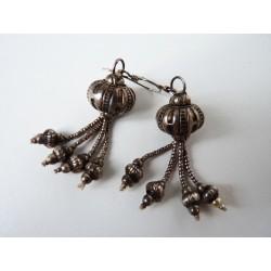 Boucles d'oreilles pompon en argent
