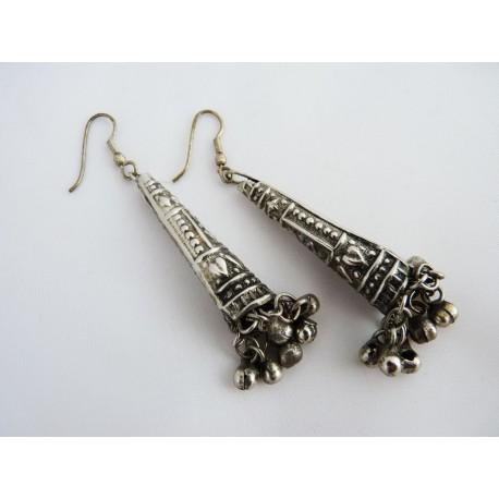 Boucles d'oreilles en métal ouvragé