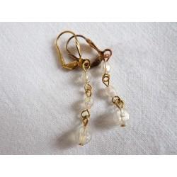 Boucles d'oreilles en perles irisées
