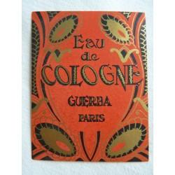Etiquette Eau de Cologne Guerba