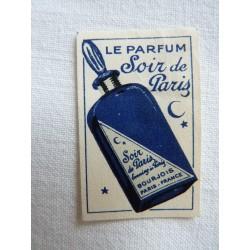 Etiquette Le parfum Soir de Paris de Bourjois