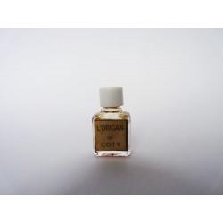 Ancienne miniature de parfum L'Origan de Coty