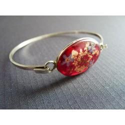 Bracelet à médaillon de fleurs