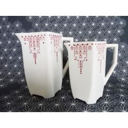 2 Pots à lait Art Déco