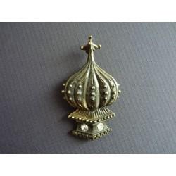 Ancienne broche pagode en métal