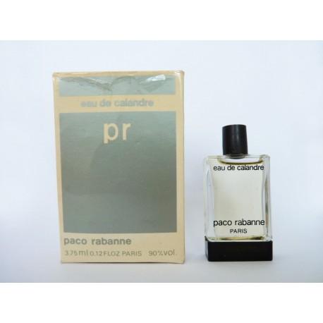 Miniature de parfum Eau de Calandre de Paco Rabanne