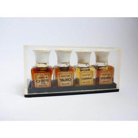 Ancien coffret de 4 miniatures de parfum Bachs