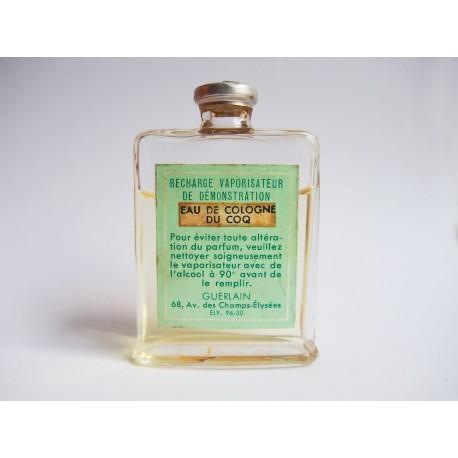 Ancien flacon recharge Eau de Cologne du Coq de Guerlain