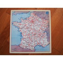 Ancienne carte de France plaque métal SNCF