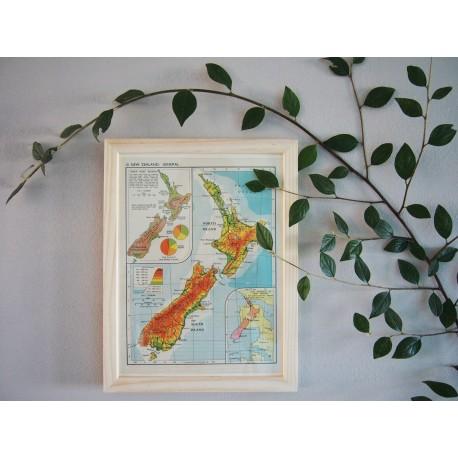 Carte de Nouvelle Zélande années 1950