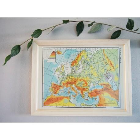 Ancienne carte d'Europe années 1950