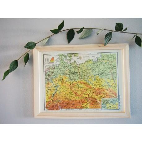 Ancienne carte d'Europe Centrale années 1956